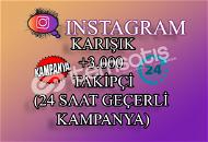 ŞOK İNDİRİM   3000 Instagram Takipçi Karışık   ANLIK