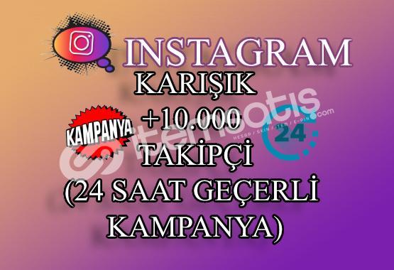 ŞOK İNDİRİM | 10000 Instagram Takipçi Karışık | ANLIK