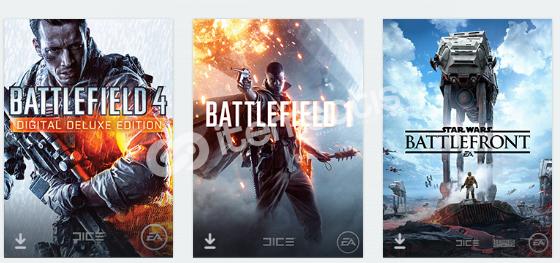 Battlefield 1,Battlefield 4,Star Wars: Battlefront hesap