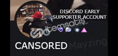 Discord Early Supporter Rozetli Hesap! (1 ID)