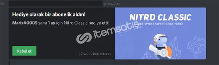 Discord Classic Nitro [25 TL]