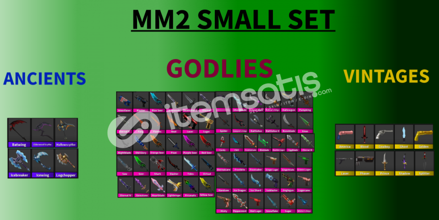 Mm2 Small set 80 godly