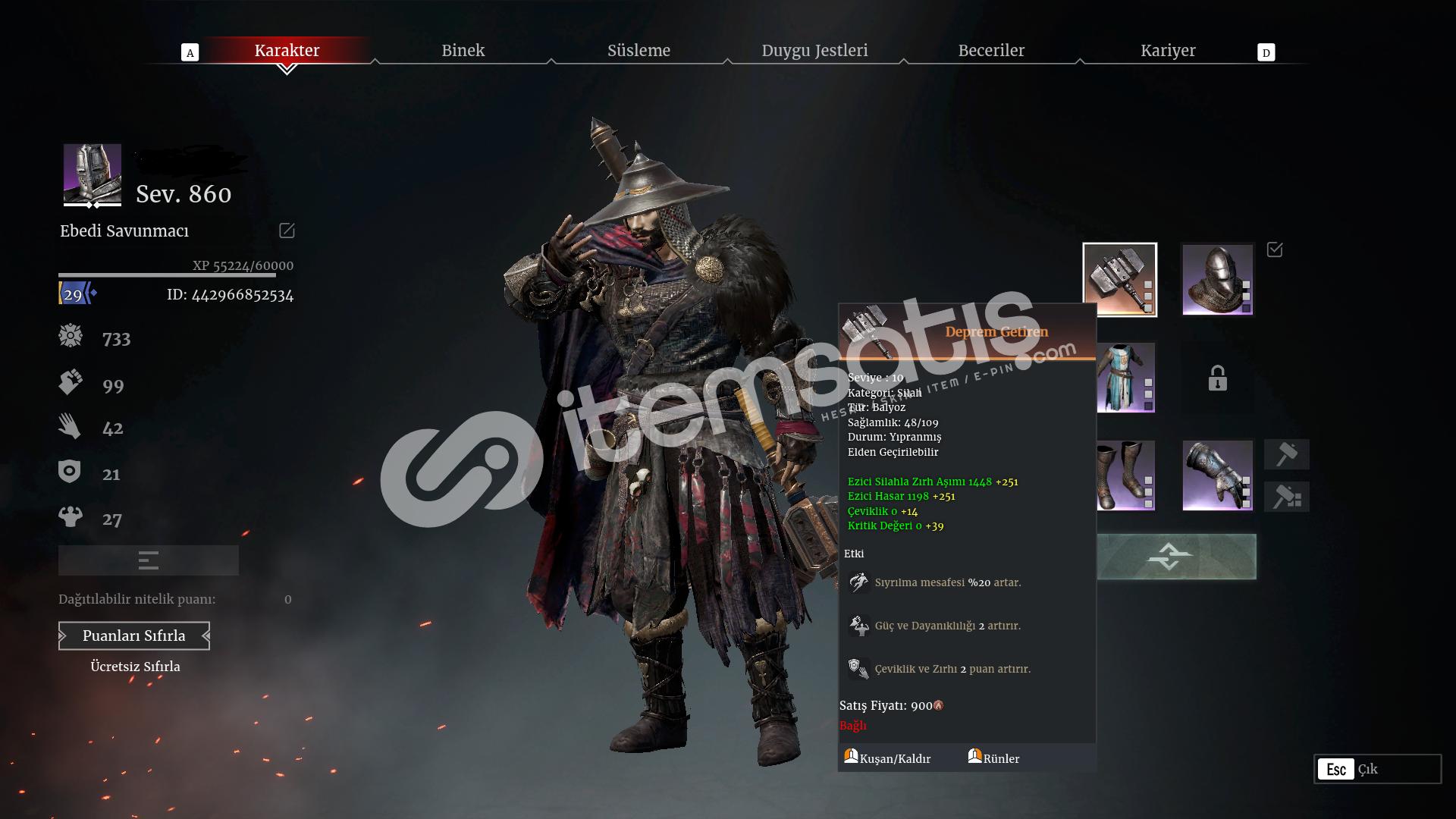 Conquerors Blade Eu2 860 Level Full hesap