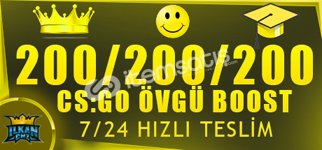 KAÇIRMA ! 600 ÖVGÜ BOOST HİZMETİ ANINDA TESLİM!