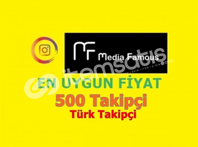 İnstagram 500 Gerçek Türk Takipçi 8TL