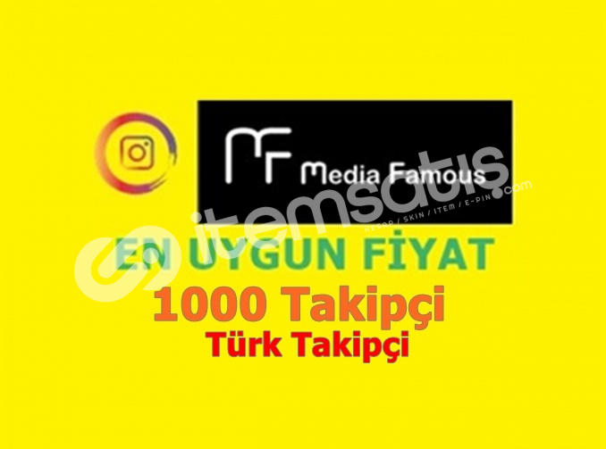 İnstagram 1000 Gerçek Türk Takipçi 16TL