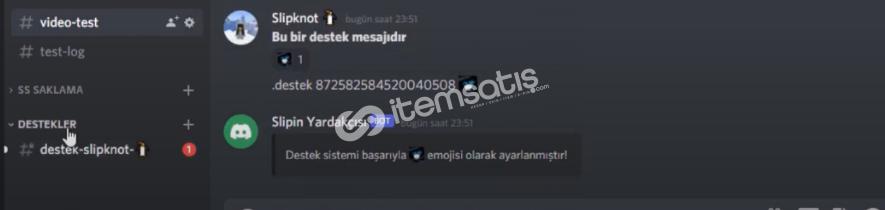 Discord Botu Destek/Talep Sistemi