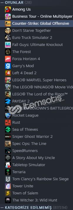 İçinde tüm popüler oyunlar vardır FİYAT İÇİN DM.