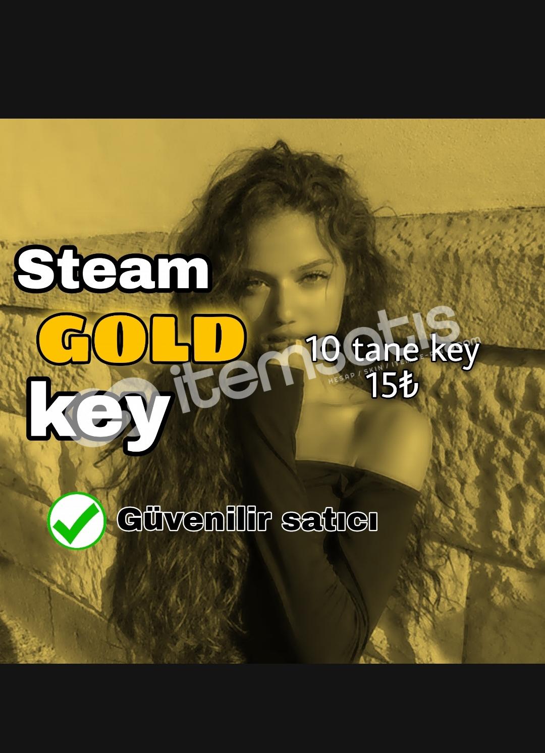 10 TANE Steam Gold Key
