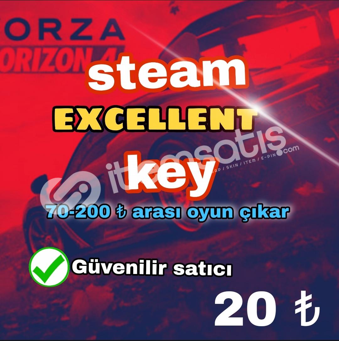 Excellent Key / 70 - 200 ₺ arası oyun çıkmakta