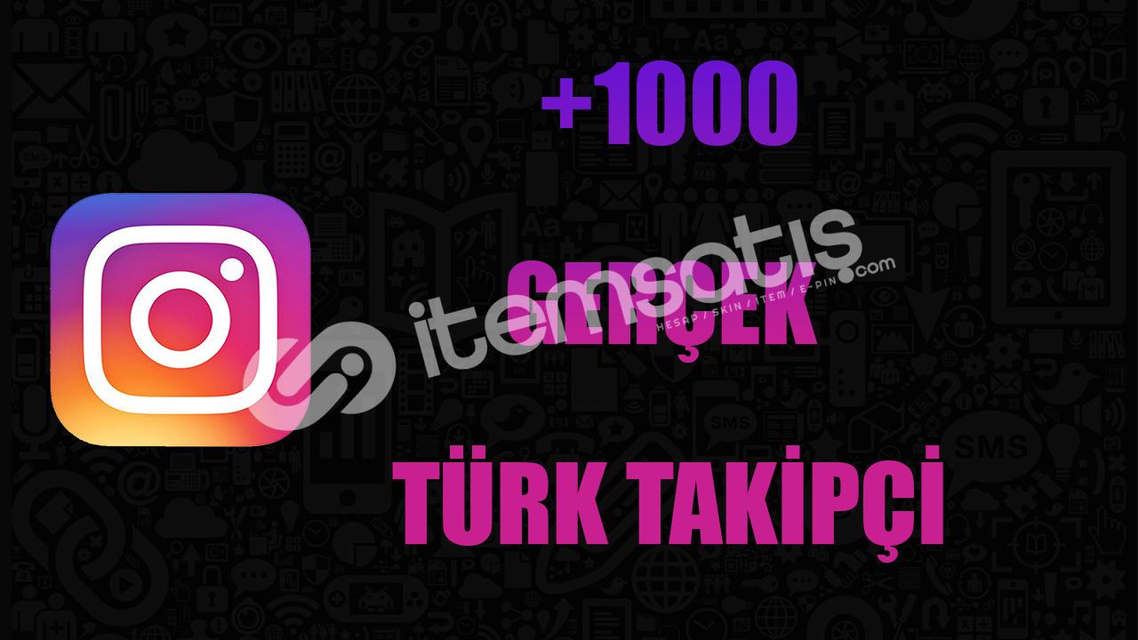 1000 GERÇEK TAKİPÇİ / KALİTELİ HİZMET / ANLIK