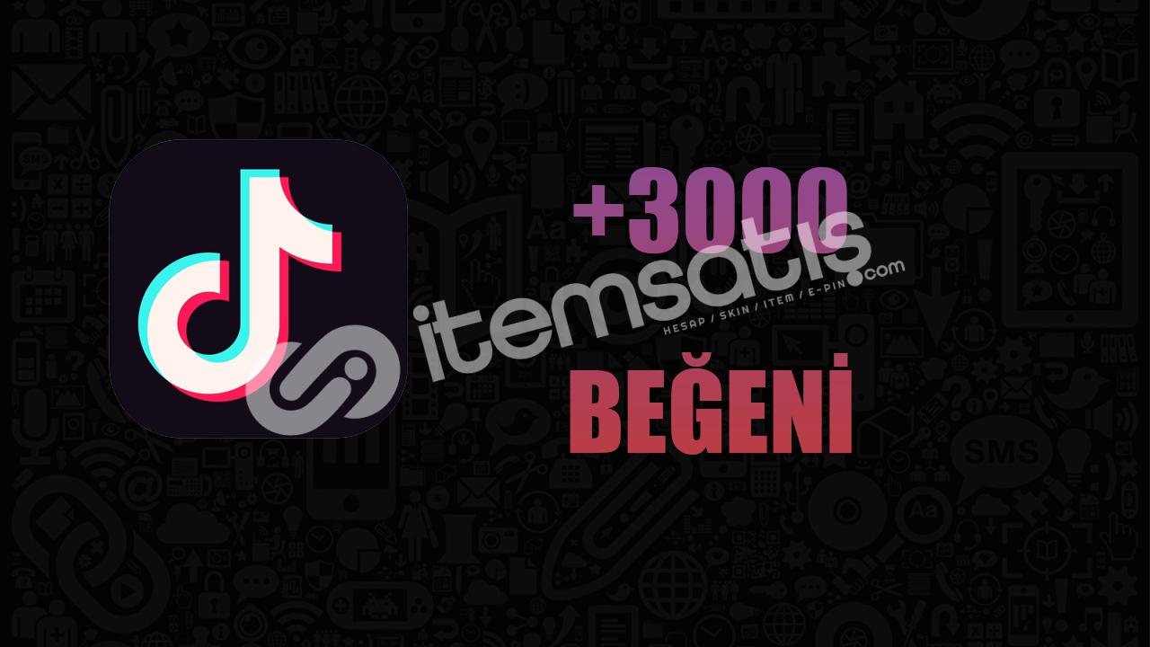 3000 BEĞENİ / ANLIK GÖNDERİM / KALİTELİ HİZMET