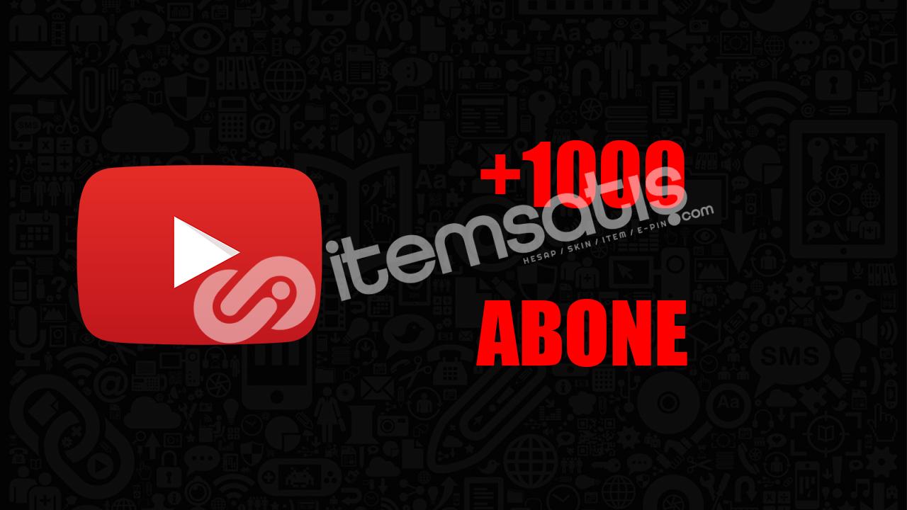 1000 ABONE / ANLIK GÖNDERİM / KALİTELİ HİZMET