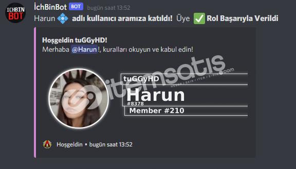 Discord Welcome & Otorol Bot Altyapı