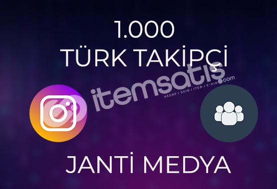 1.000 TAKİPÇİ - HIZLI TESLİMAT %50 TÜRK