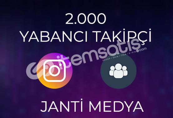 2.000 YABANCI TAKİPÇİ - HIZLI TESLİMAT