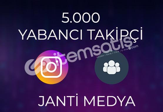 5.000 YABANCI TAKİPÇİ - HIZLI TESLİMAT