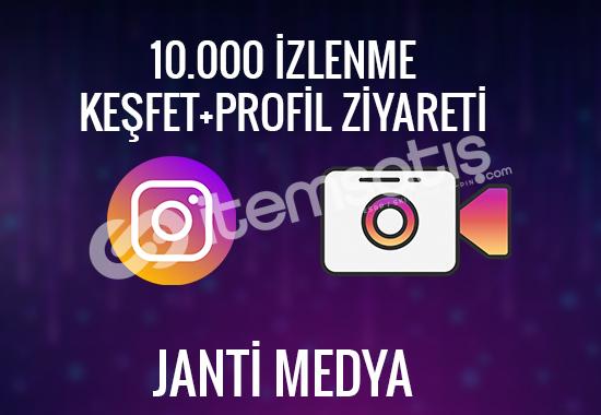 10.000 INSTAGRAM İZLENME - %100 TÜRK