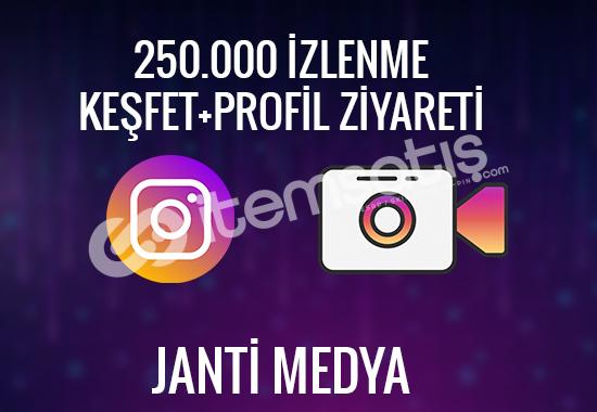 250.000 INSTAGRAM İZLENME - %100 TÜRK - KEŞFET ÇIKMA ŞANSI