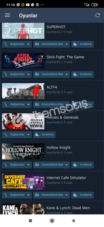 700 lük Yayıncı Steam hesap