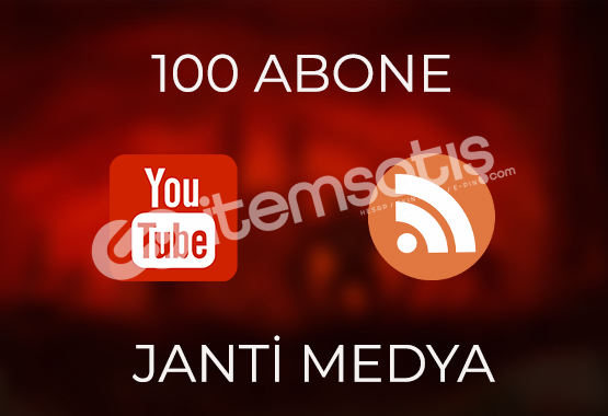100 YOUTUBE ABONESİ - HIZLI TESLİMAT
