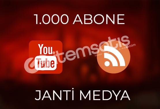 1.000 YOUTUBE ABONESİ - HIZLI TESLİMAT