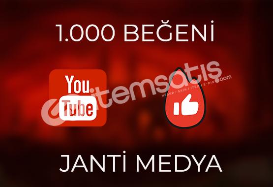 1000 YOUTUBE BEĞENİSİ - HIZLI TESLİMAT - GÜVENLİ ALIŞVERİŞ