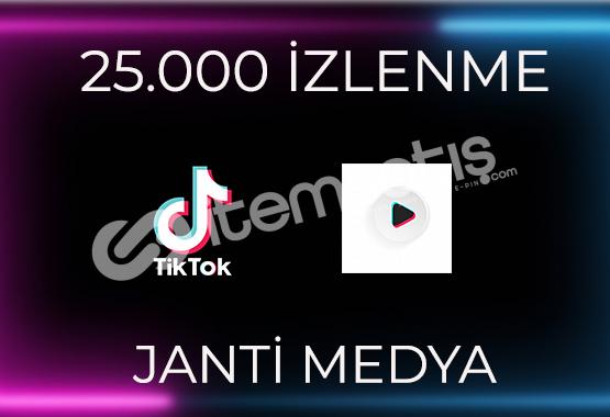 25.000 TİKTOK İZLENMESİ - HIZLI TESLİMAT