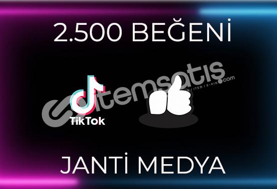 2.500 TİKTOK BEĞENİSİ - HIZLI TESLİMAT