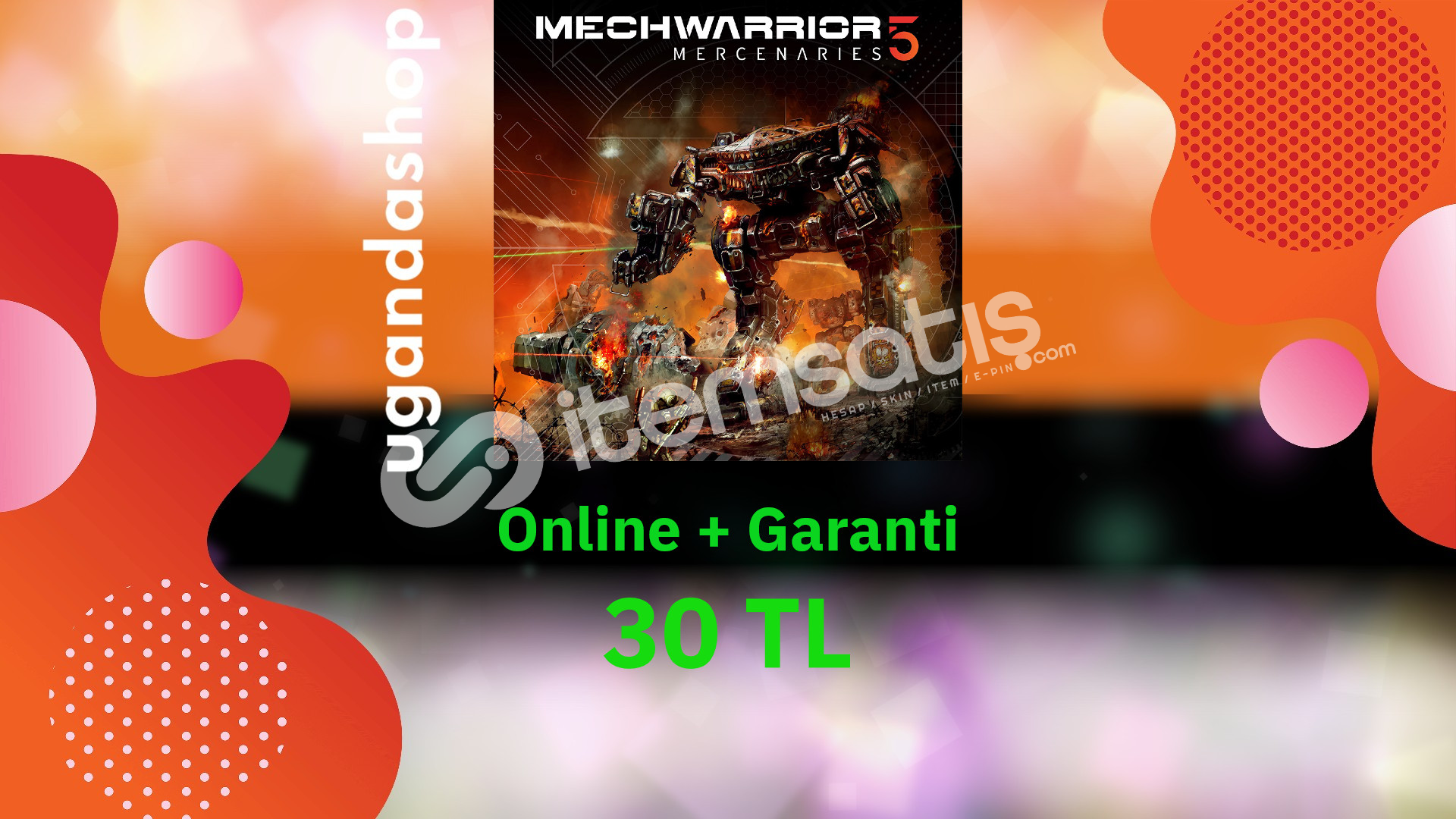 MechWarrior 5: Mercenaries Online Epic Games Hesap + Garanti