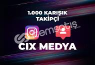 1.000 Türk Yabancı Takipçi - Anında Teslimat