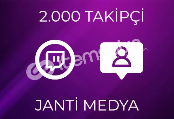 2.000 TWİTCH TAKİPÇİSİ - GARANTİLİ