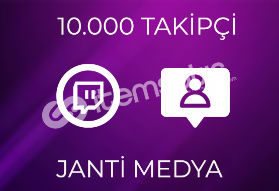 10.000 TWİTCH TAKİPÇİSİ - GARANTİLİ