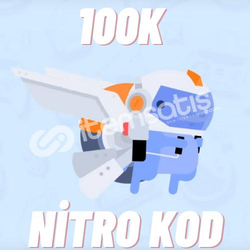 100K Discord Nitro Kod