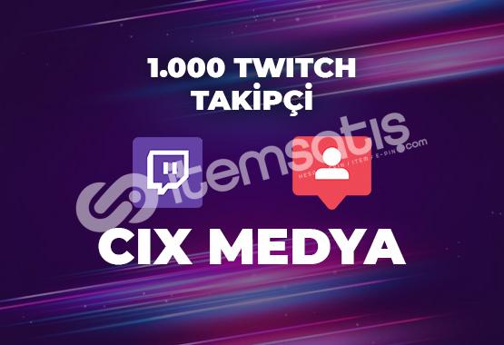 1000 Twitch Takipçi - Anında Teslimat