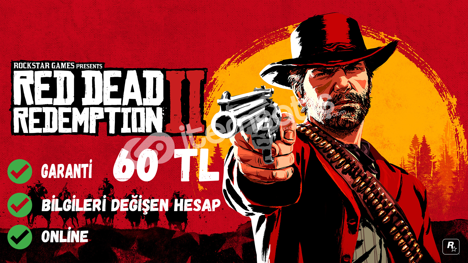 Red Dead Redemption 2 Online Steam hesabı + Garanti