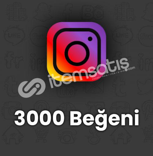 3.000 İNSTAGRAM BEĞENİSİ / TÜRK GERÇEK TAKİPÇİ