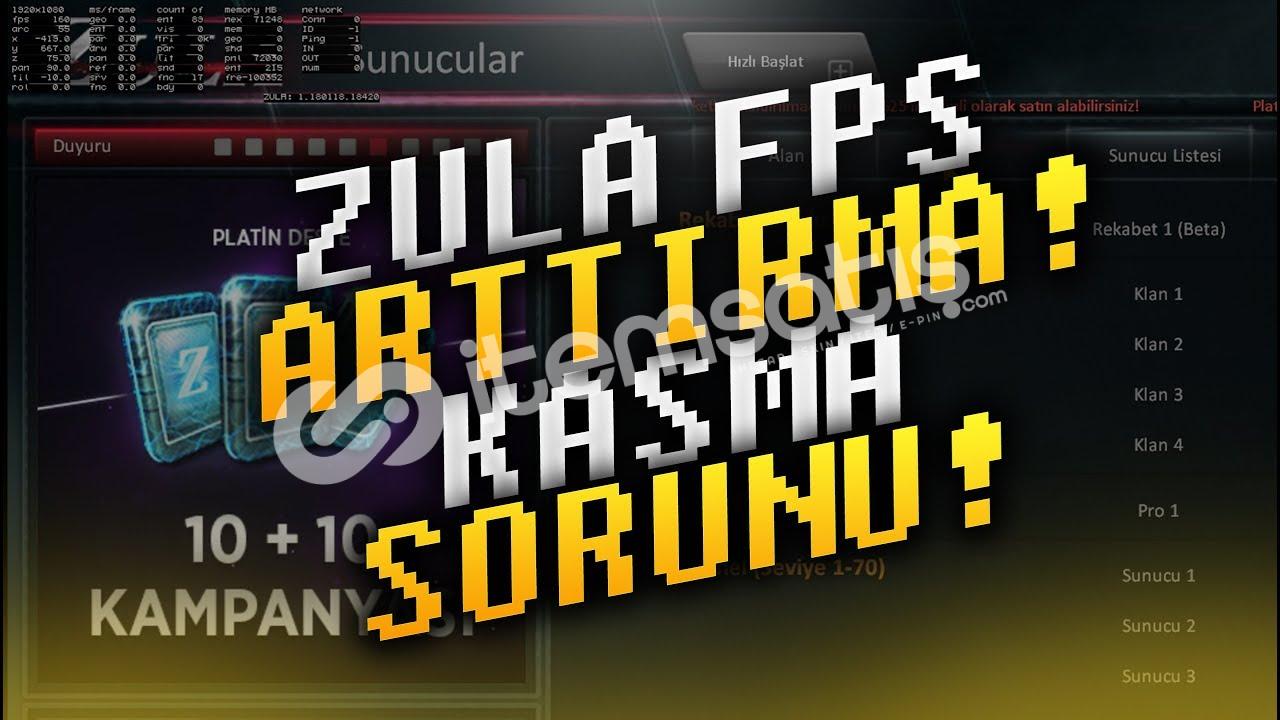 Zula Fps Arttıran Paket (+30 & +300 FPS)