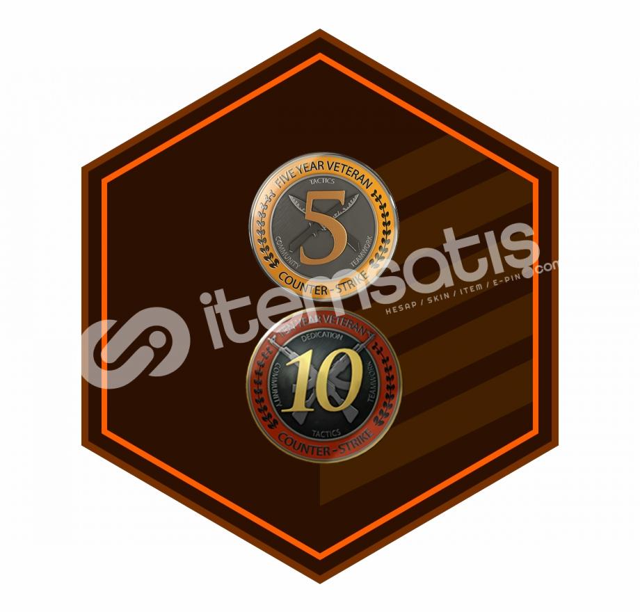 STEAM 10 YILLIK HESAP (CS:GO 5 ve 10 YILLIK TECRÜBE JETONLU)