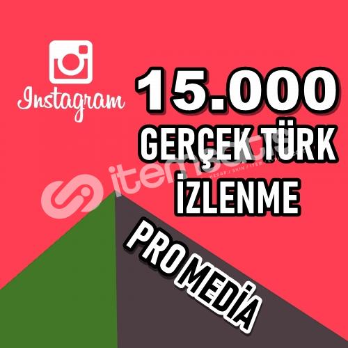 15.000 (15K) %100 TÜRK İZLENME ★ HIZLI ★