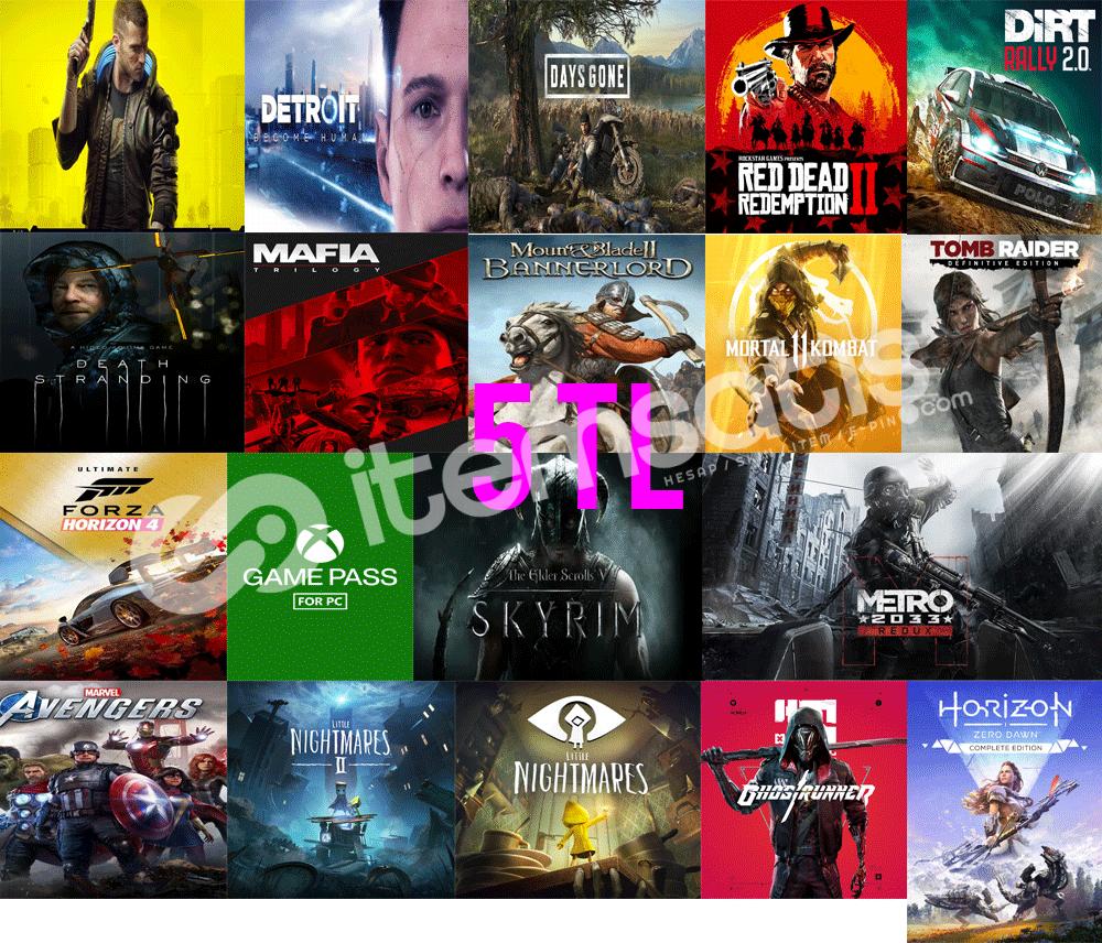 350 Oyun+Sınırsız XBOX Game Pass+Xbox oyunları