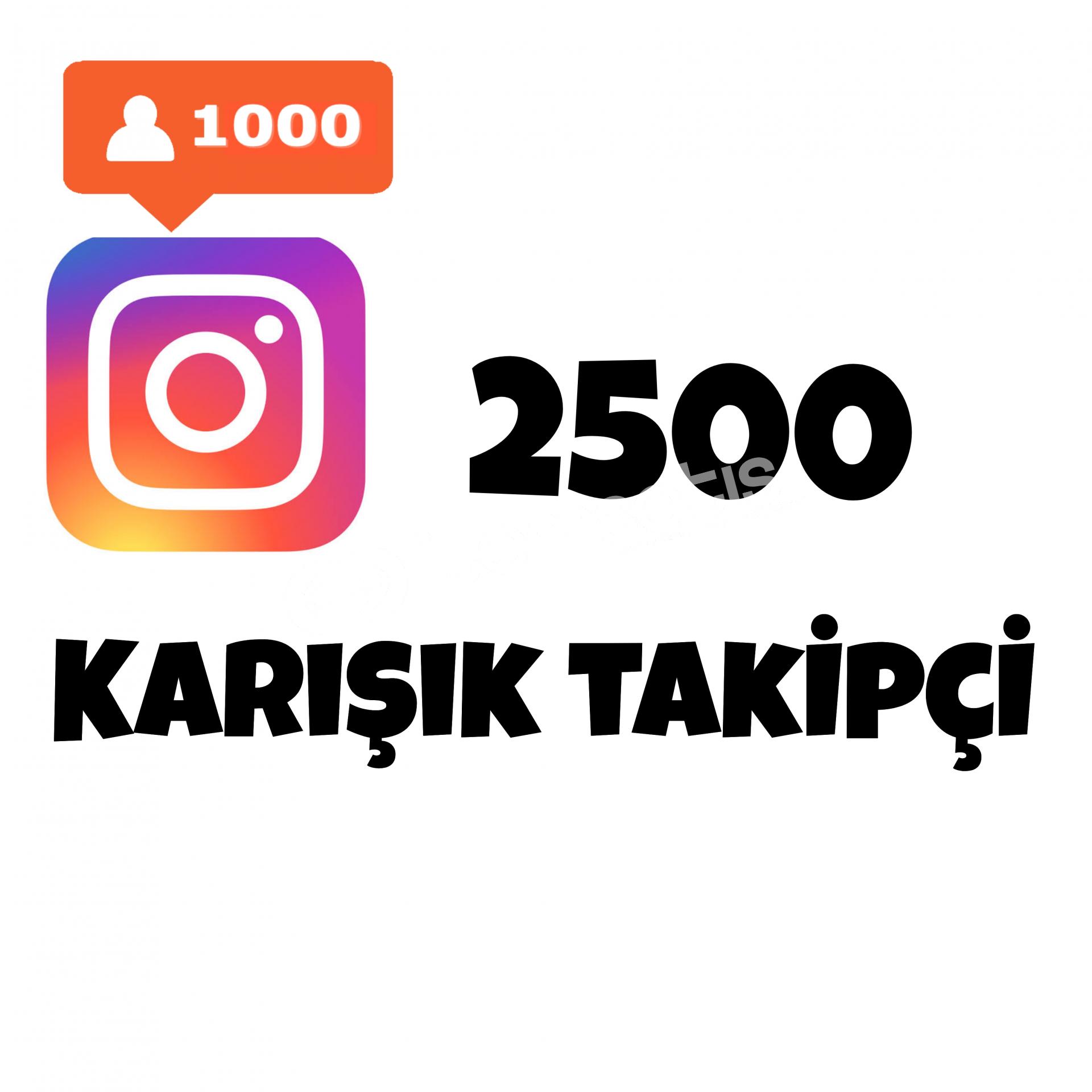 2500 KARIŞIK TAKİPÇİ İNSTAGRAM   ANLIK GÖNDERİM