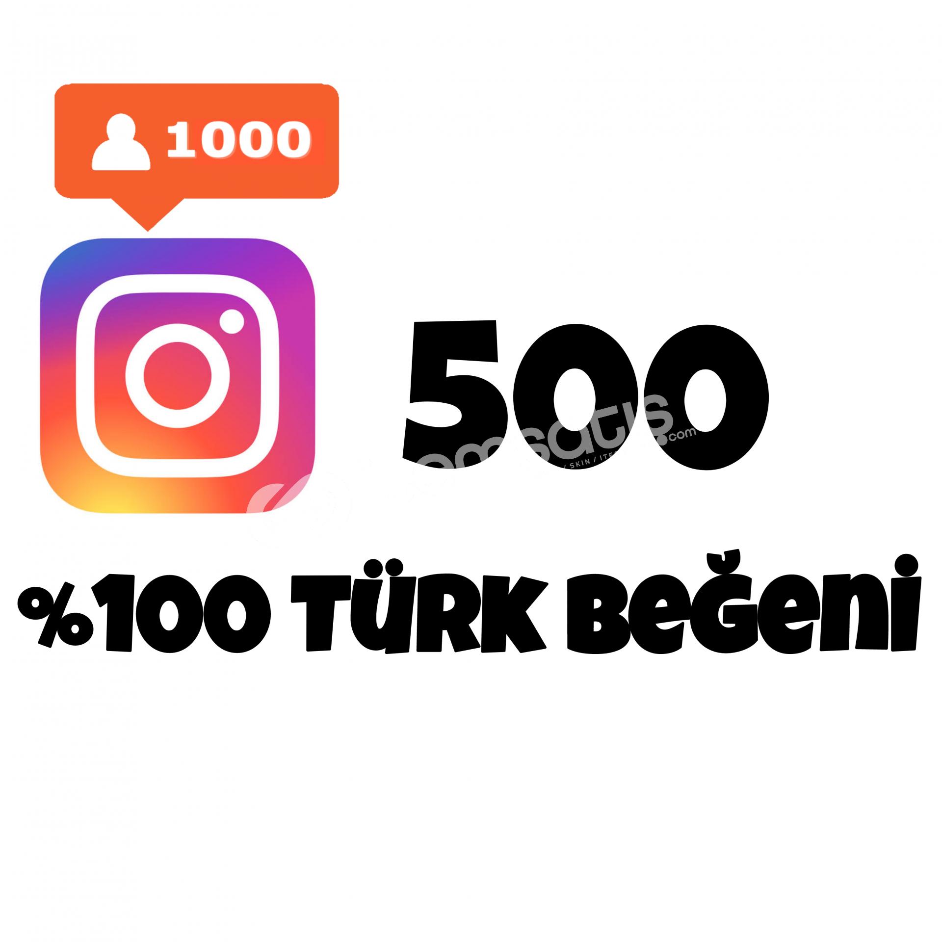 500 TÜRK BEĞENİ | HIZLI GÖNDERİM