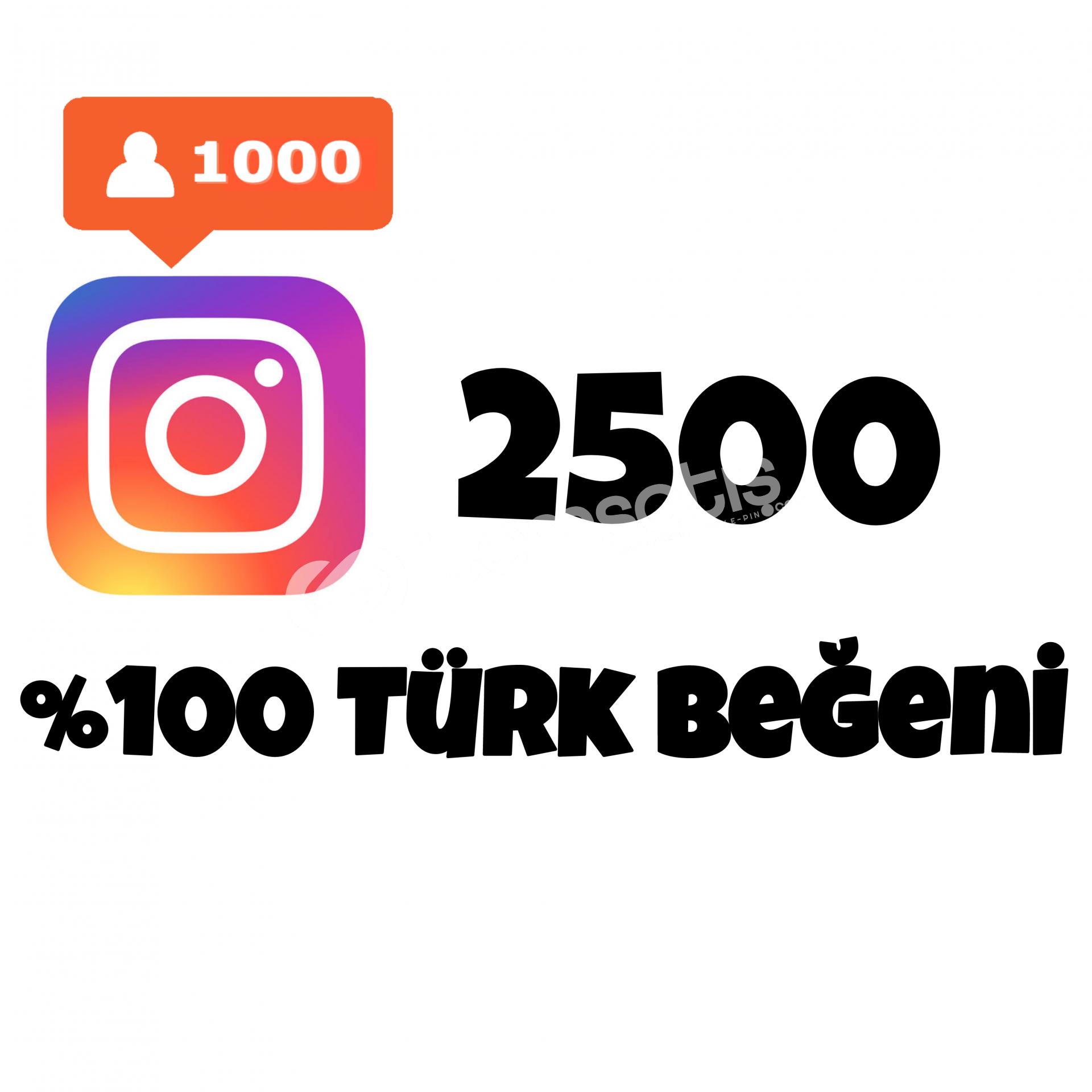 2500 TÜRK BEĞENİ | HIZLI GÖNDERİM