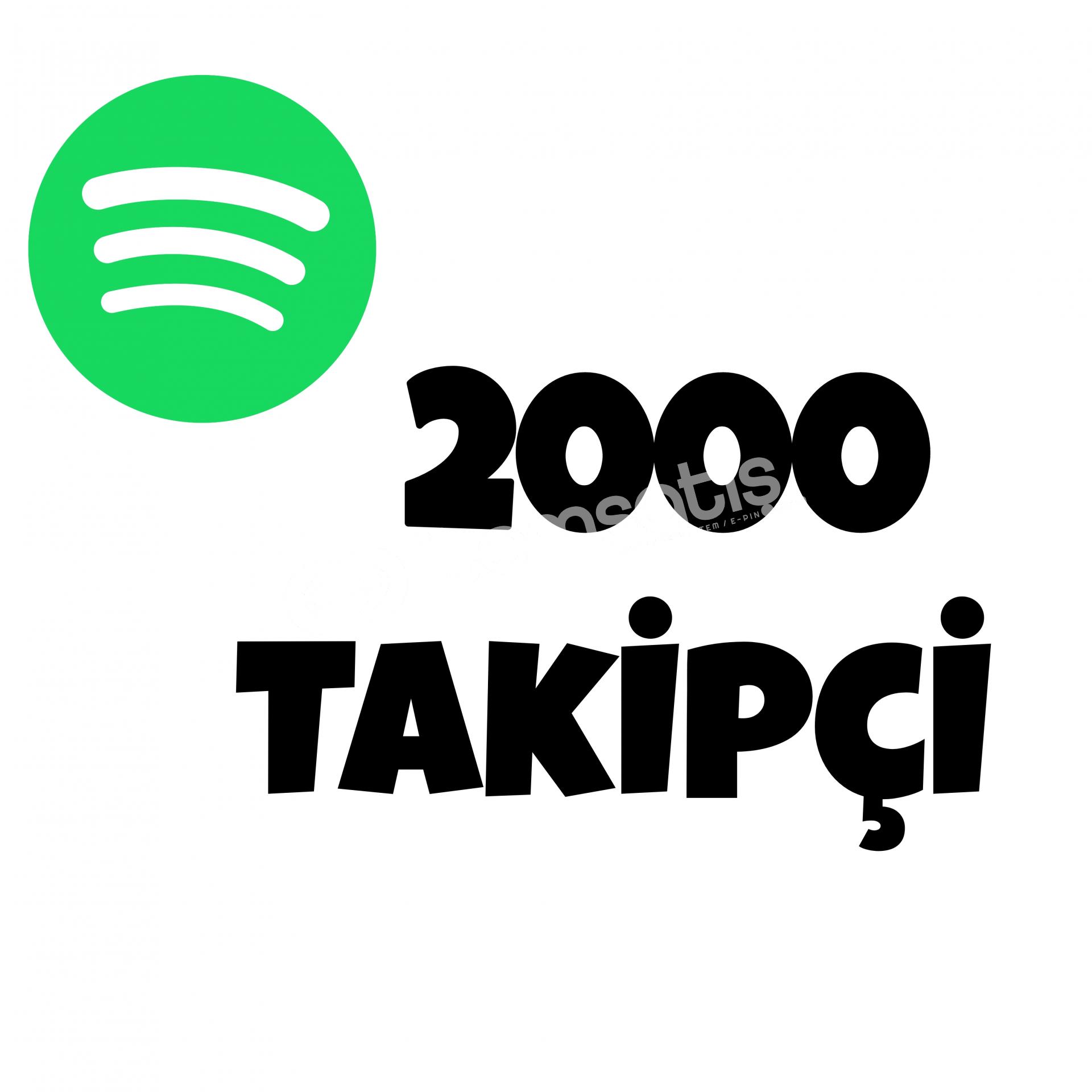 2000 TAKİPÇİ SPOTİFY | HIZLI GÖNDERİM