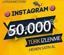 50k TÜRK İZLENME/ANINDA GÖNDERİM