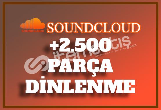 2.500 SoundCloud Dinlenme | Hemen Teslim