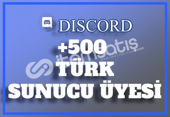 500 Discord Türk Sunucu Üyesi | Hemen Teslim