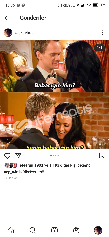 2k Türk takipçili 2k beğenili mailli ucuz hesap