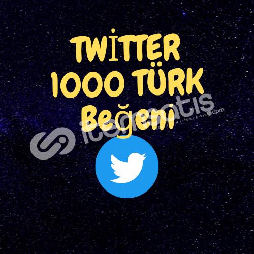 TWİTTER 1000 TÜRK BEĞENİ/GARENTİ/ANLIK GÖNDERİM